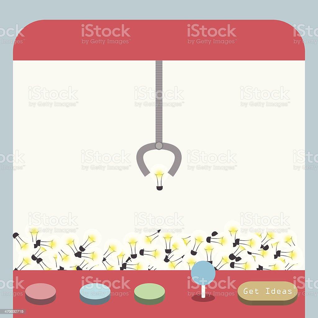 Ideas machine, Ideas concept vector art illustration