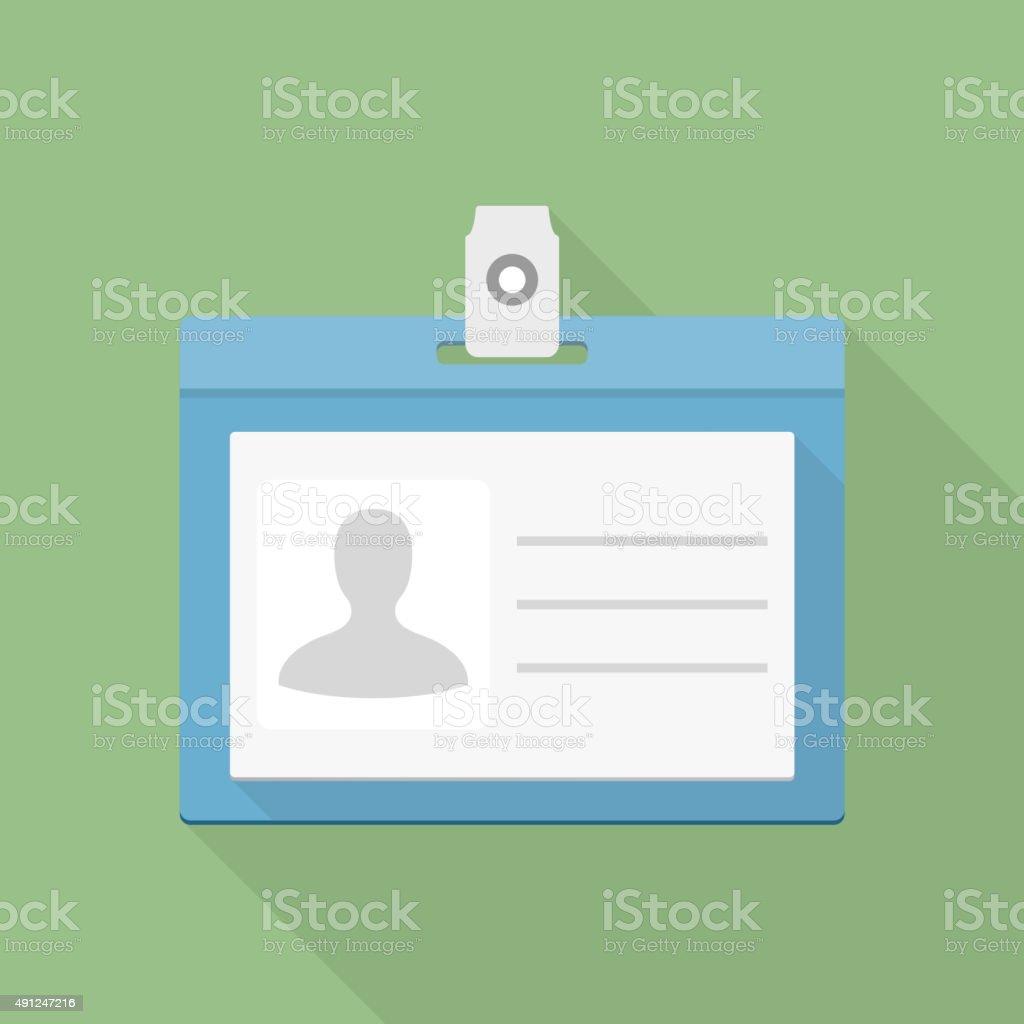 Identification Card Icon vector art illustration