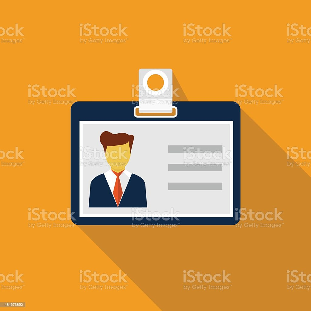 Identification card vector art illustration
