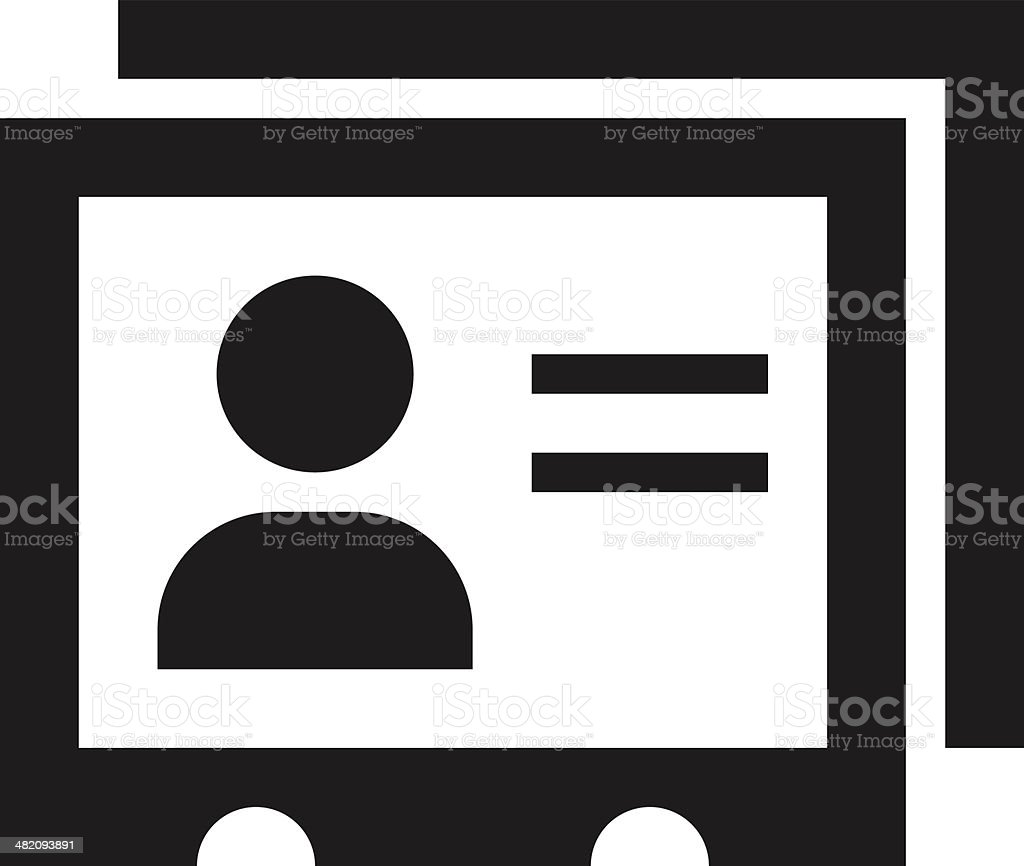 Identification Cards icon royalty-free stock vector art