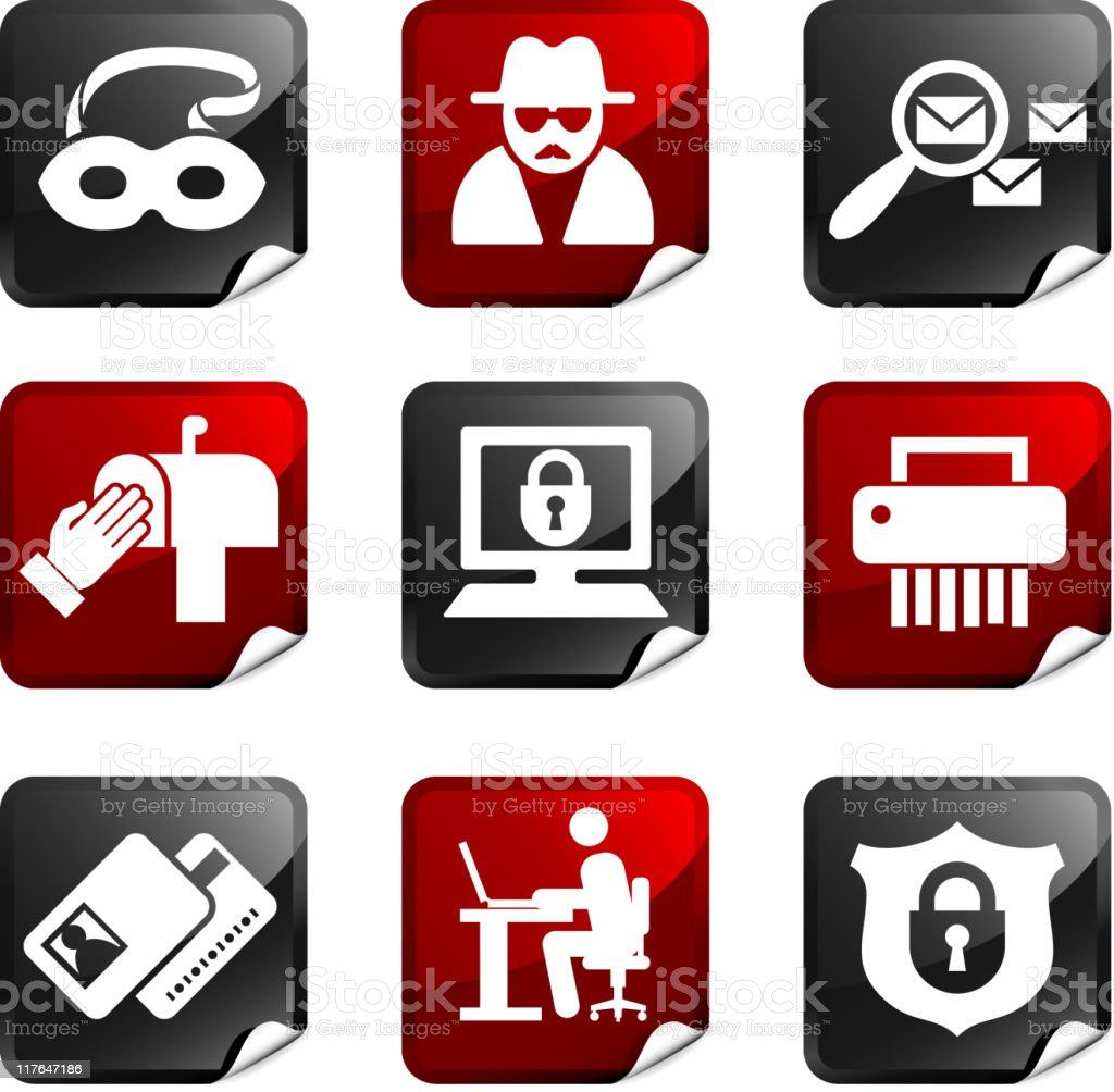 identity fraud royalty free icons royalty-free stock vector art