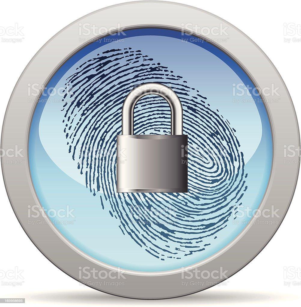 Identity Secure vector art illustration