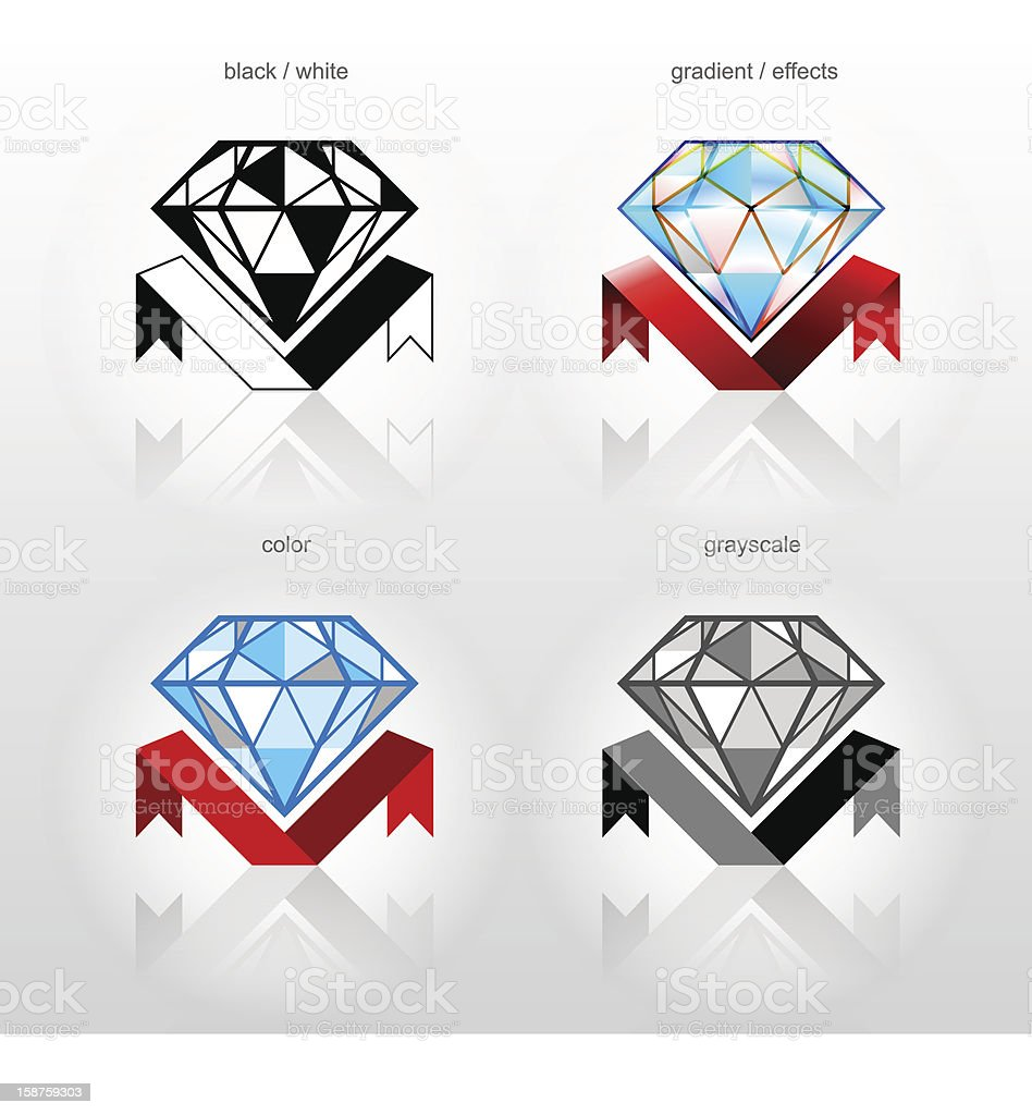 Identity symbol for jewelry industry companies royalty-free stock vector art