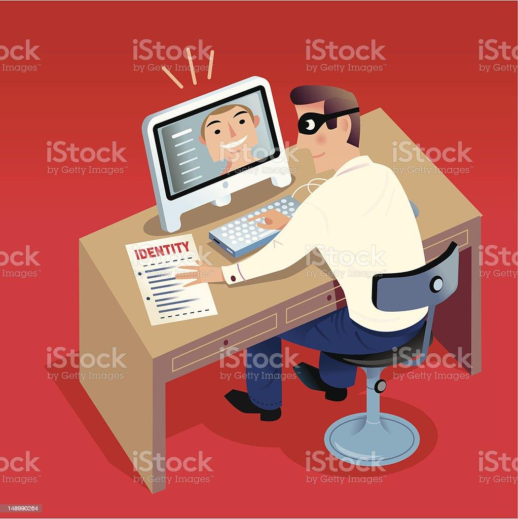 Identity Theft vector art illustration