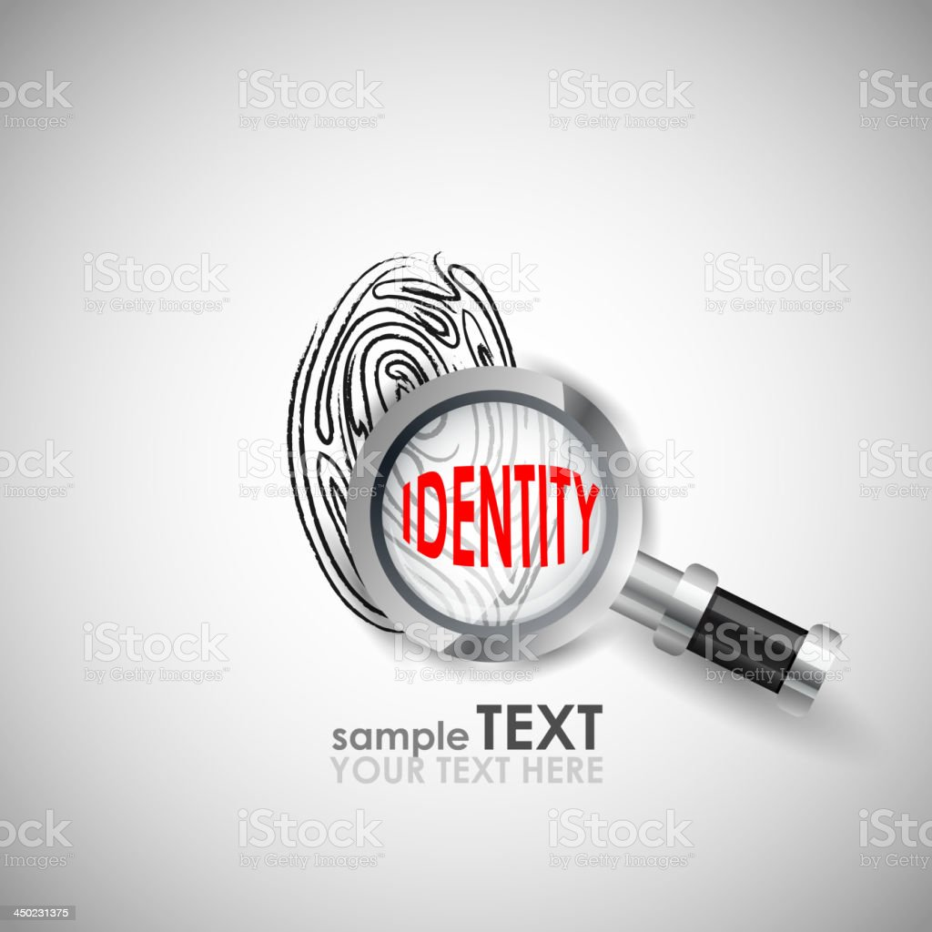 Identity vector art illustration