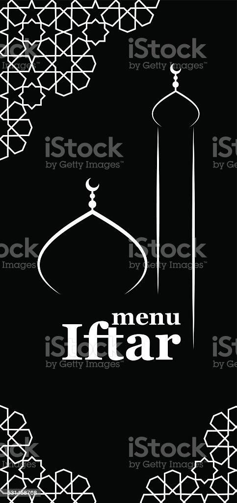 Iftar menu template vector art illustration