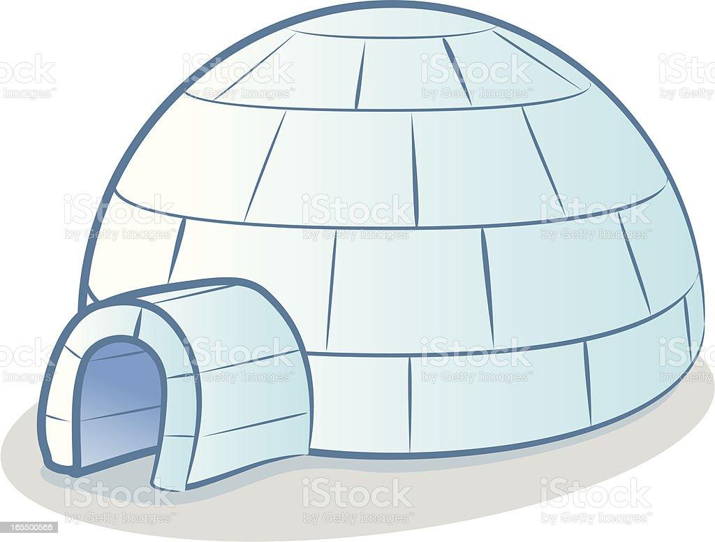 Igloo Cartoon royalty-free stock vector art