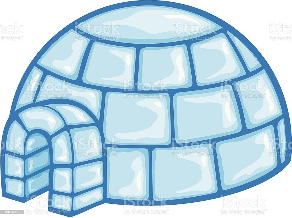 igloo vector art illustration