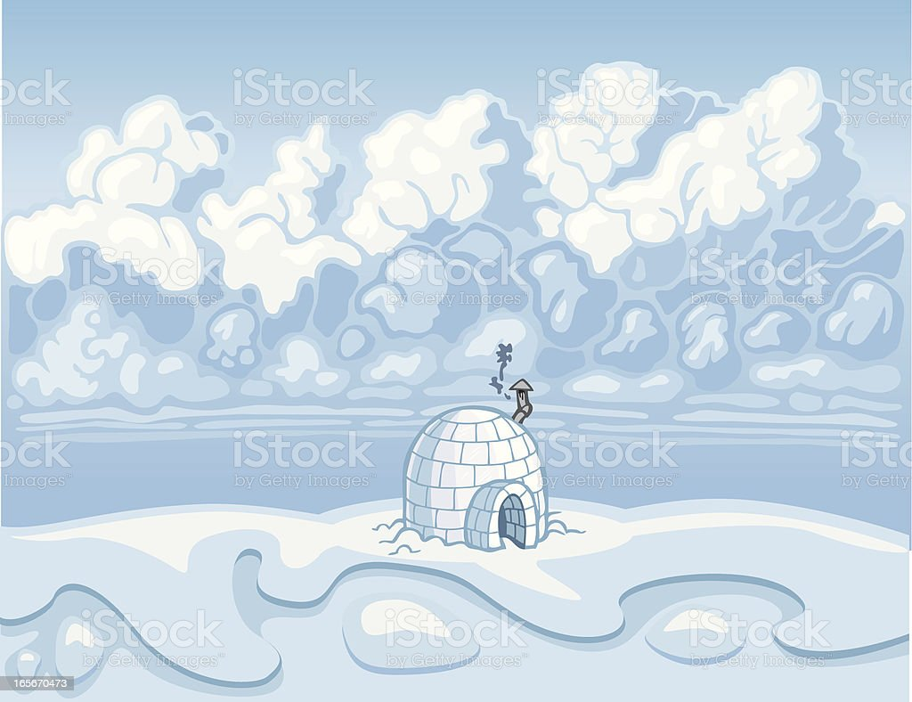 Igloo Wilderness royalty-free stock vector art