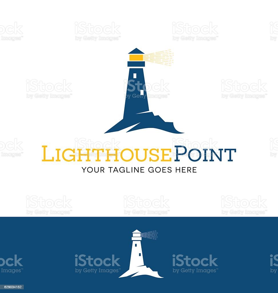 Iighthouse with beacon icon for creative use vector art illustration