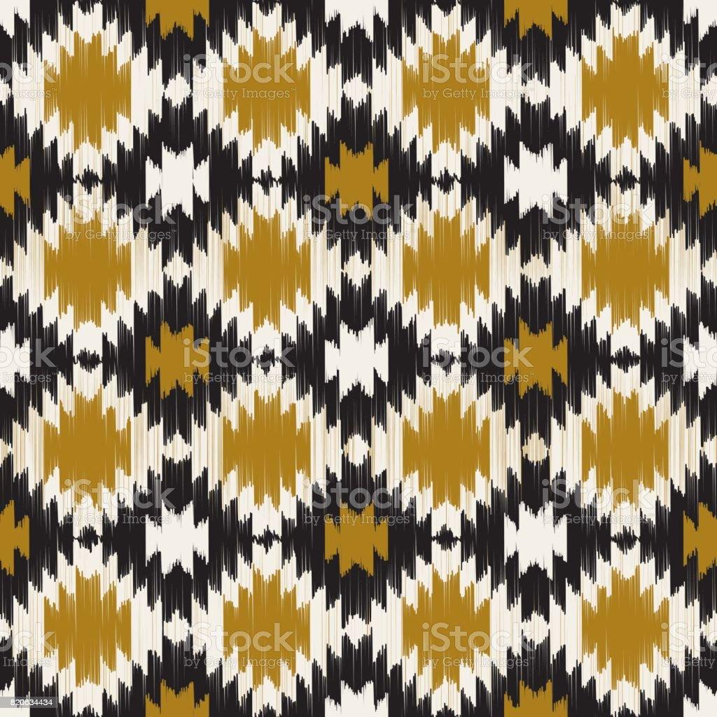 Ikat Seamless Pattern. - Illustration vector art illustration