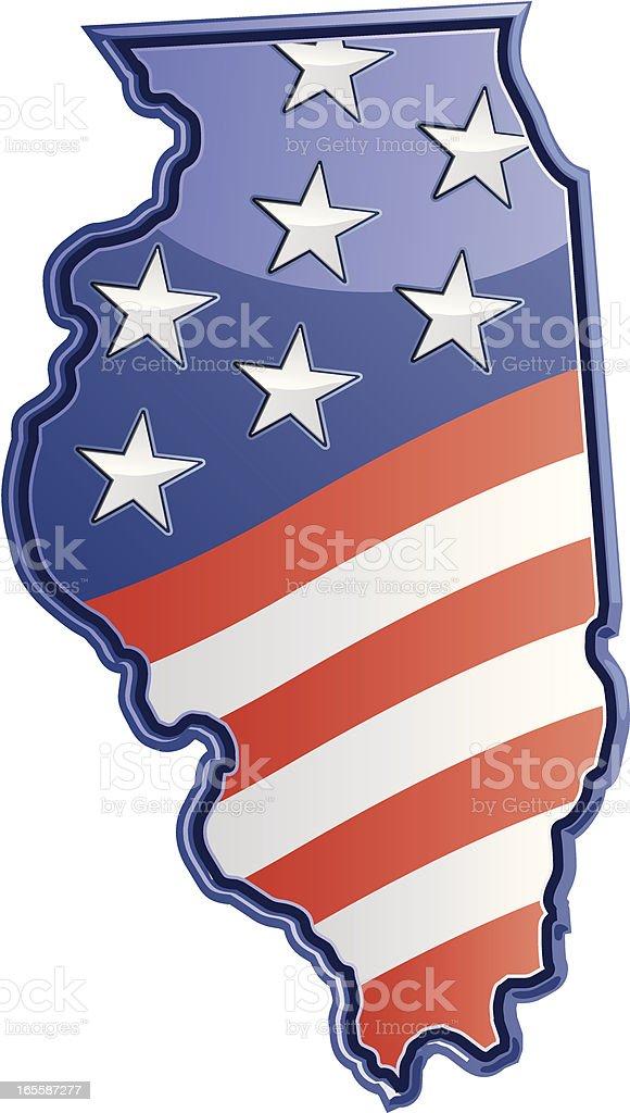 Illinois Patriotic vector art illustration