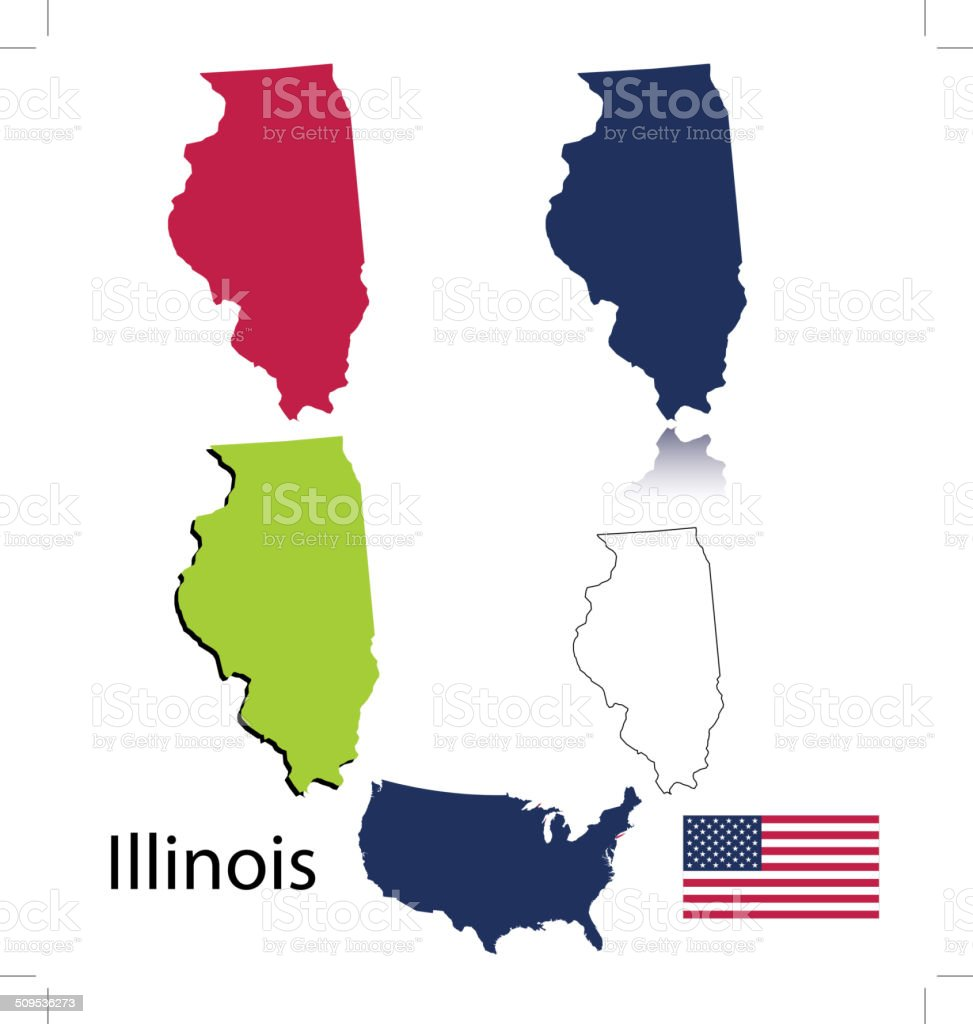 Illinois state vector art illustration