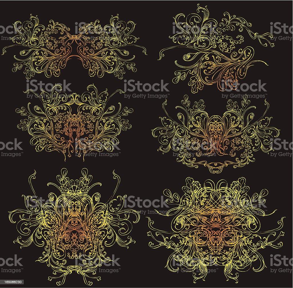 illuminated mystic elements royalty-free stock vector art