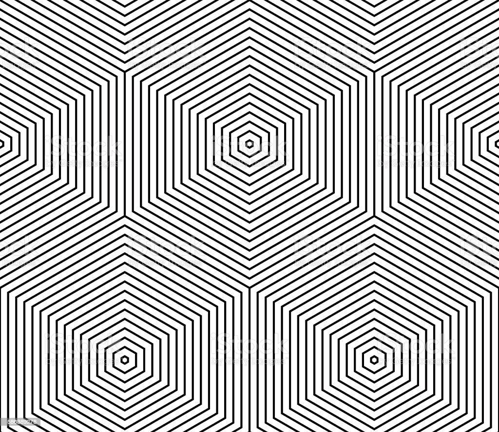 Illusive continuous monochrome pattern, decorative abstract background vector art illustration