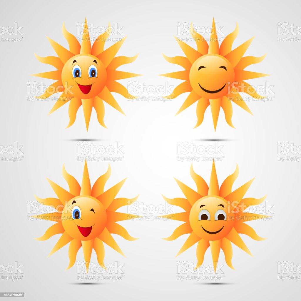 Illusration of sun for Summer season background vector art illustration