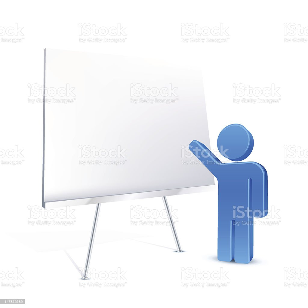 Illustrated 3D model of a person training royalty-free stock vector art
