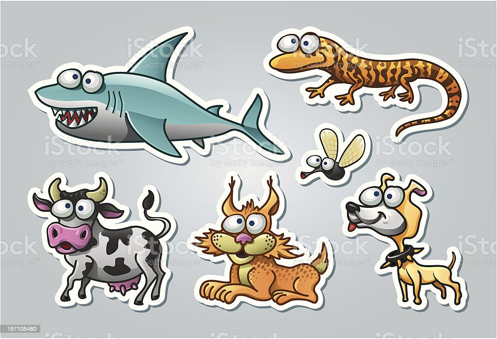 Illustrated animals royalty-free stock vector art