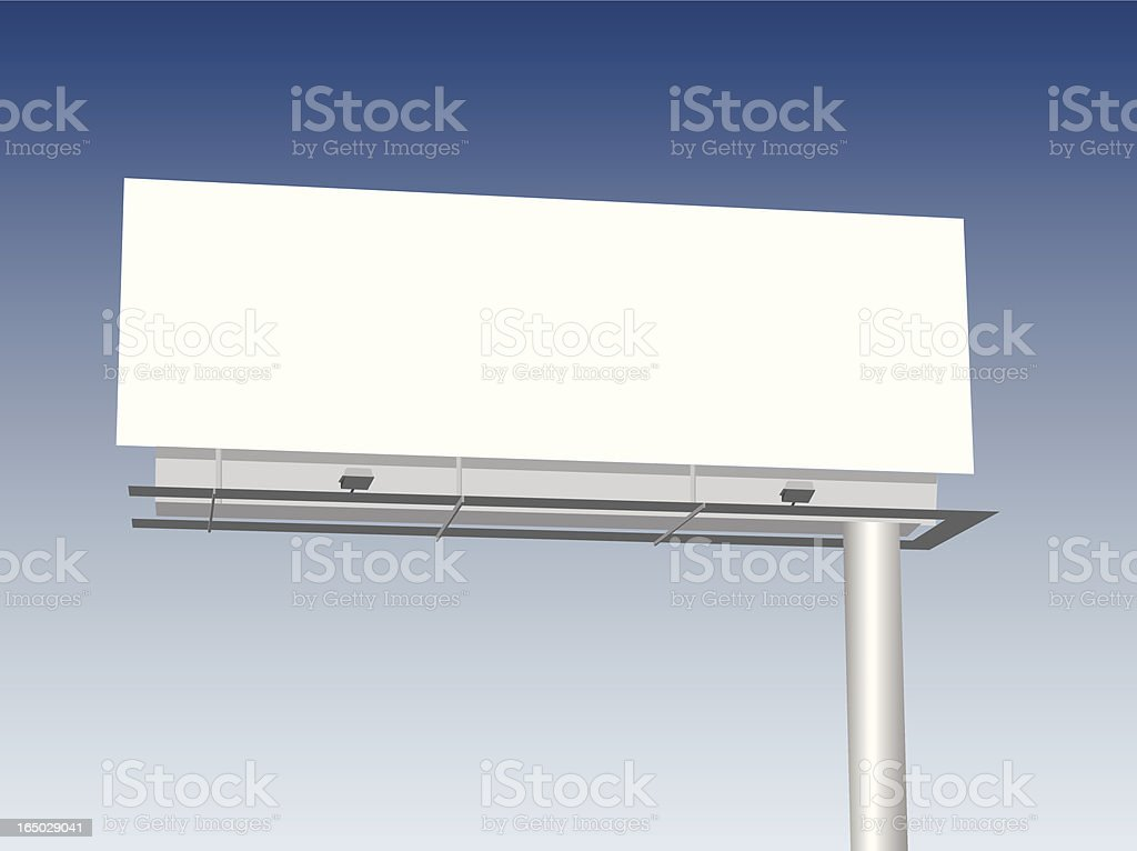 Illustrated Billboard royalty-free stock vector art