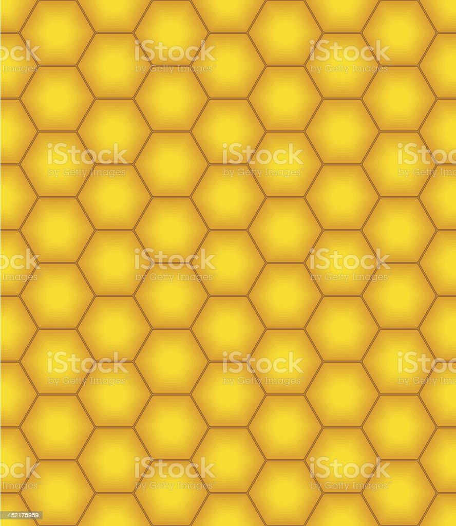 Illustrated honeycomb design in yellow and brown royalty-free stock vector art
