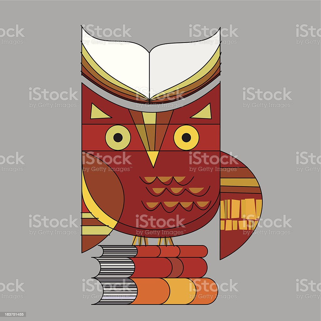 illustrated owl royalty-free stock vector art