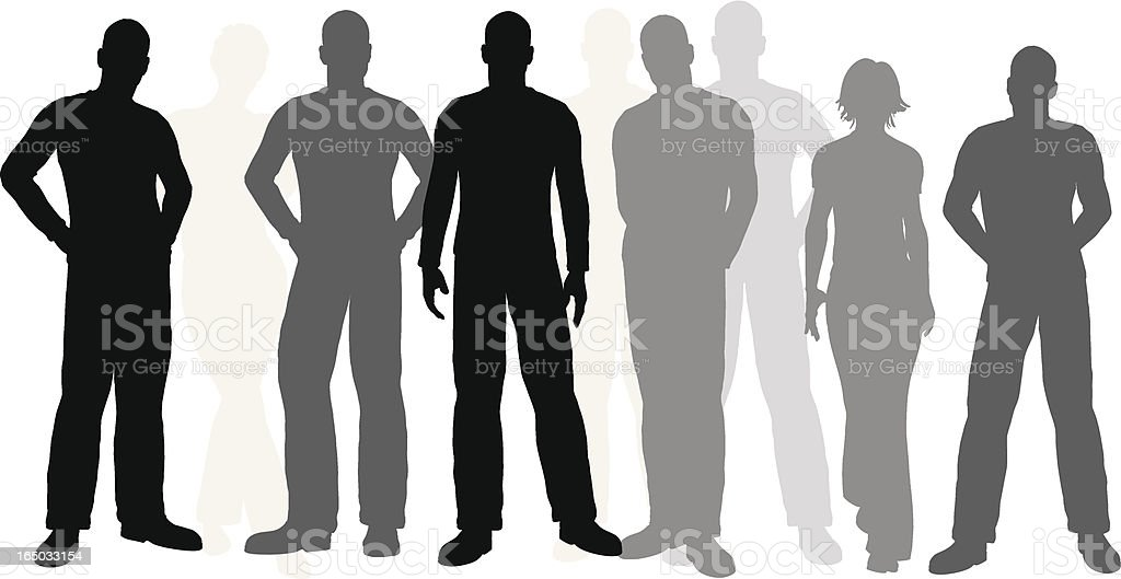 Illustrated people (vector) royalty-free stock vector art