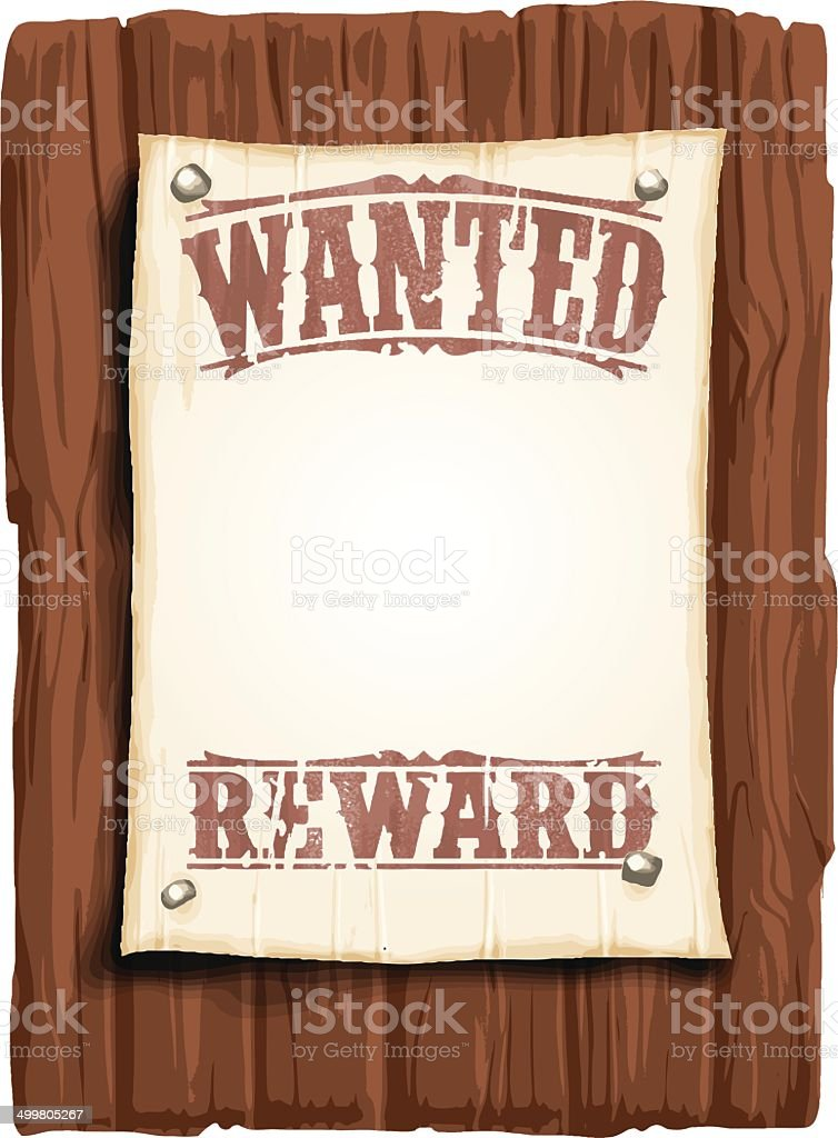illustrated wanted poster vector art illustration