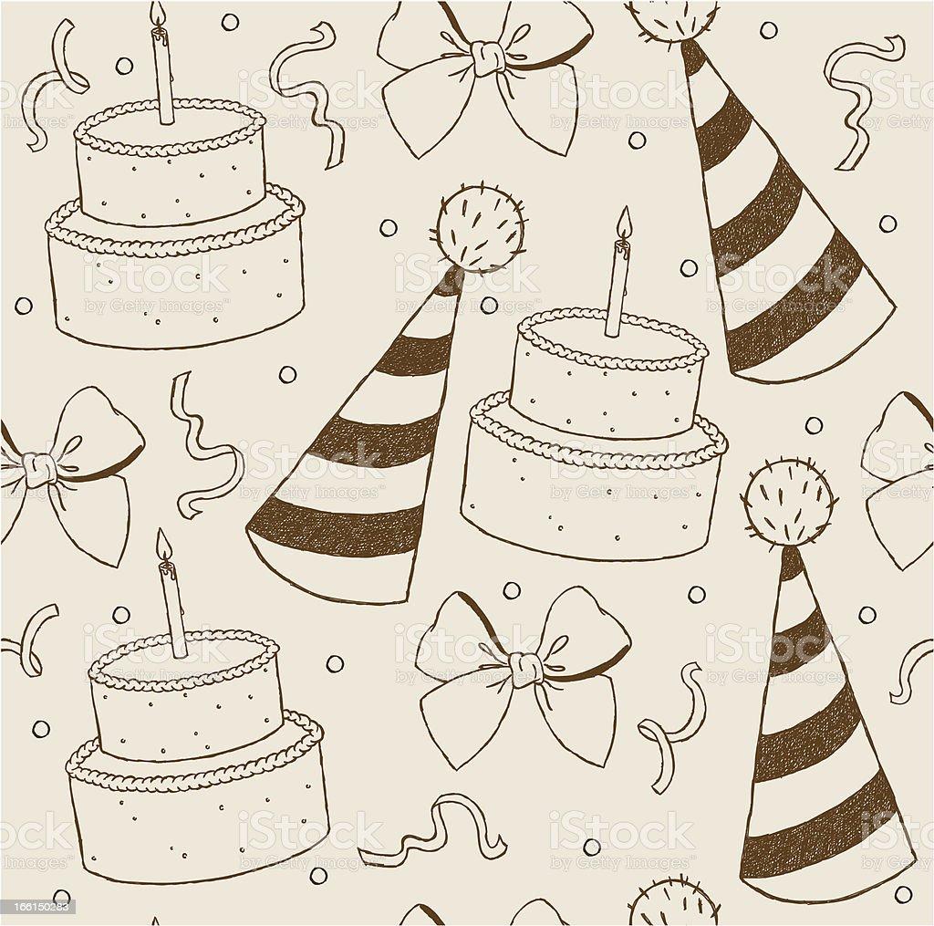 Illustration birthday seamless wallpaper royalty-free stock vector art