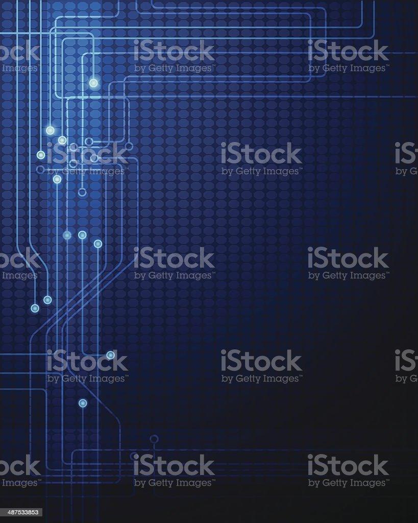 Illustration Blue abstract technology circuit background vector art illustration