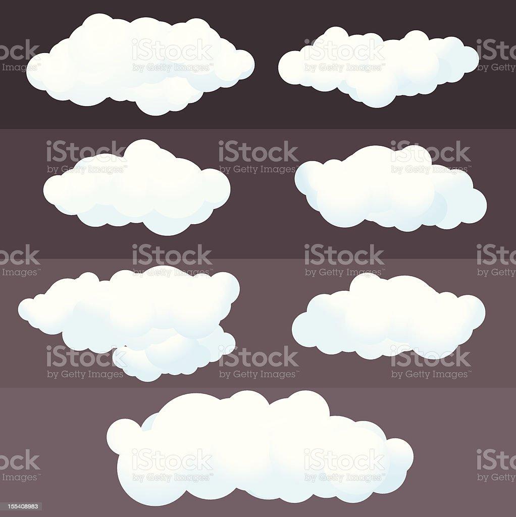 illustration Clouds Set vector art illustration