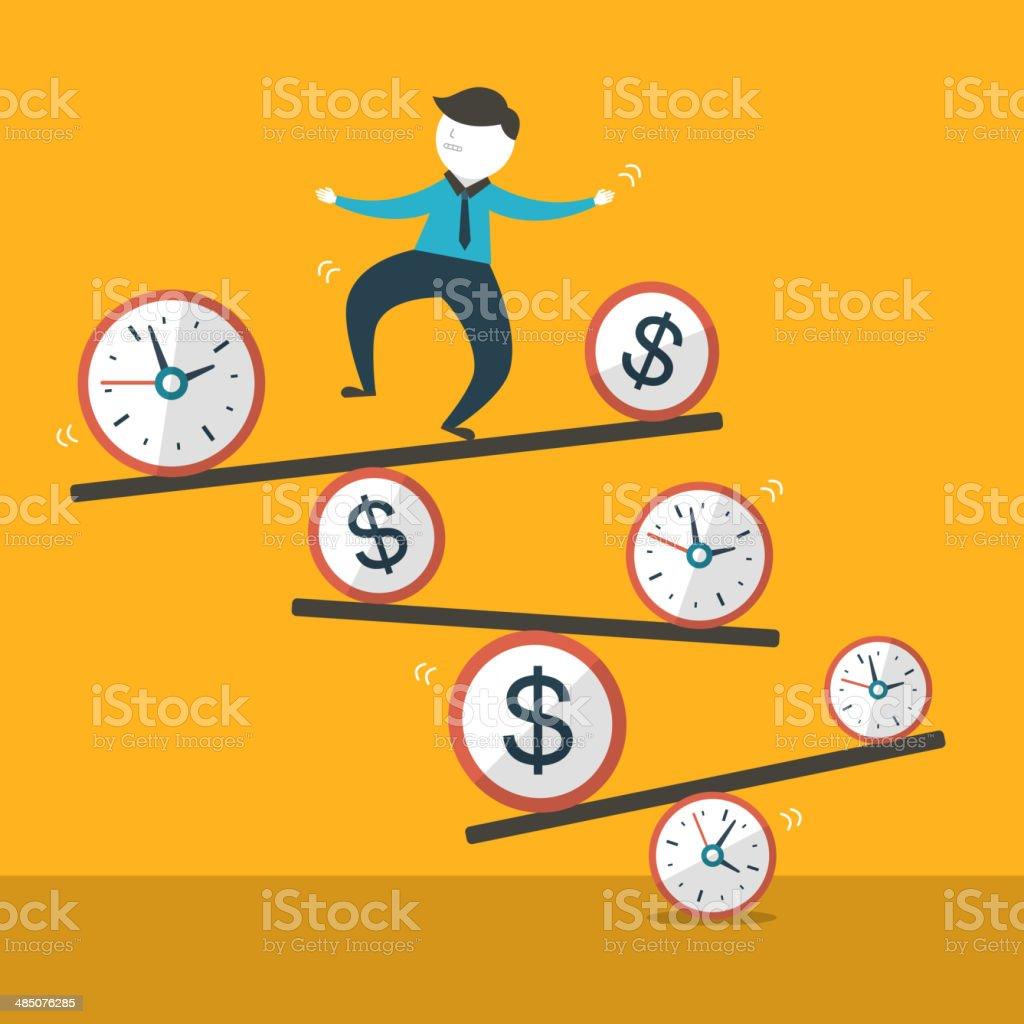 illustration concept of balance vector art illustration