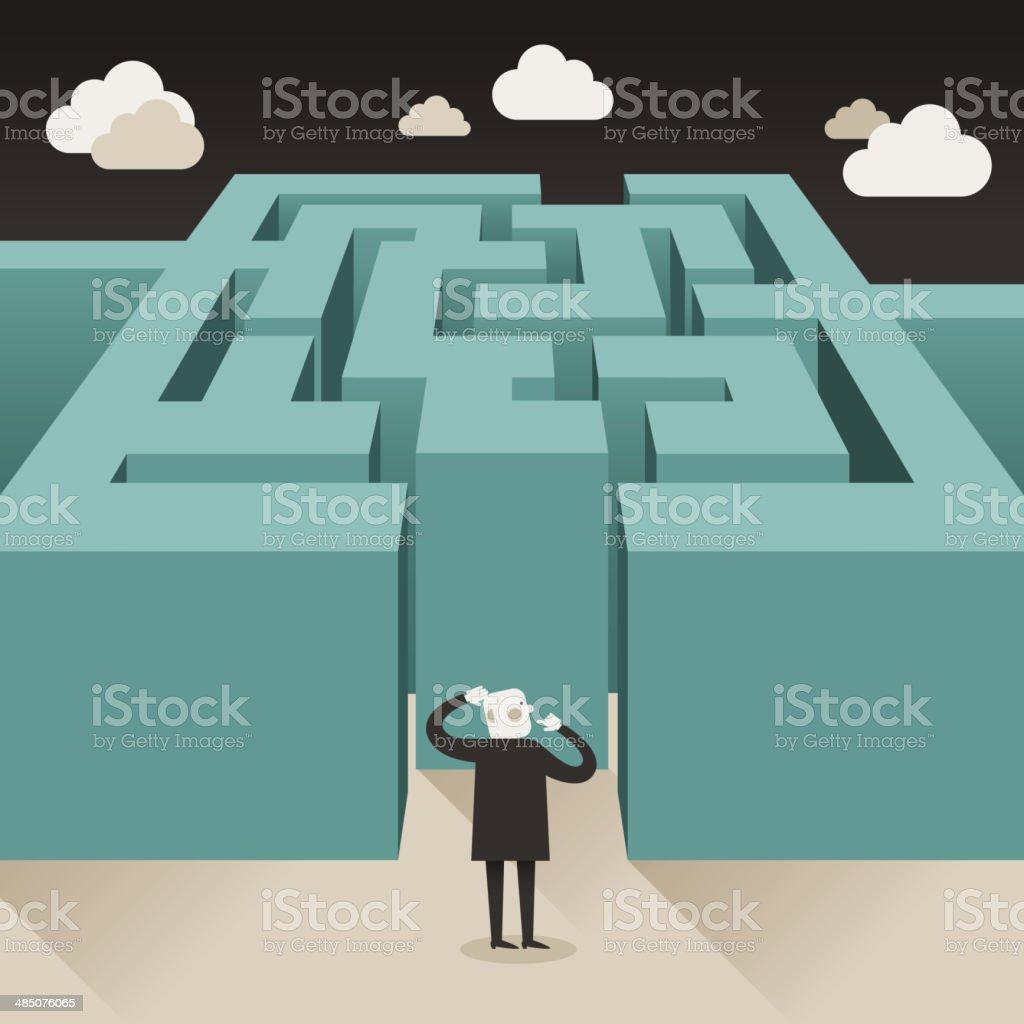 illustration concept of challenge vector art illustration