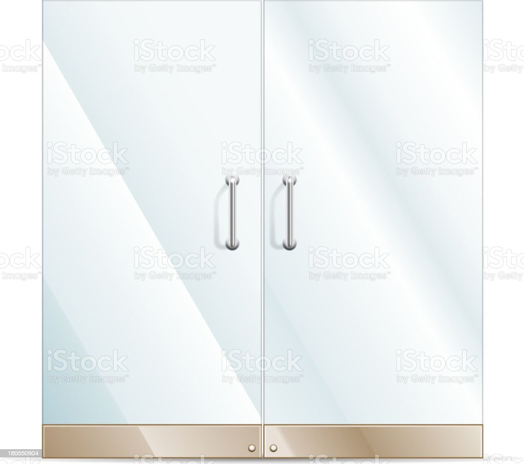 Illustration concept of double glass doors royalty-free stock vector art
