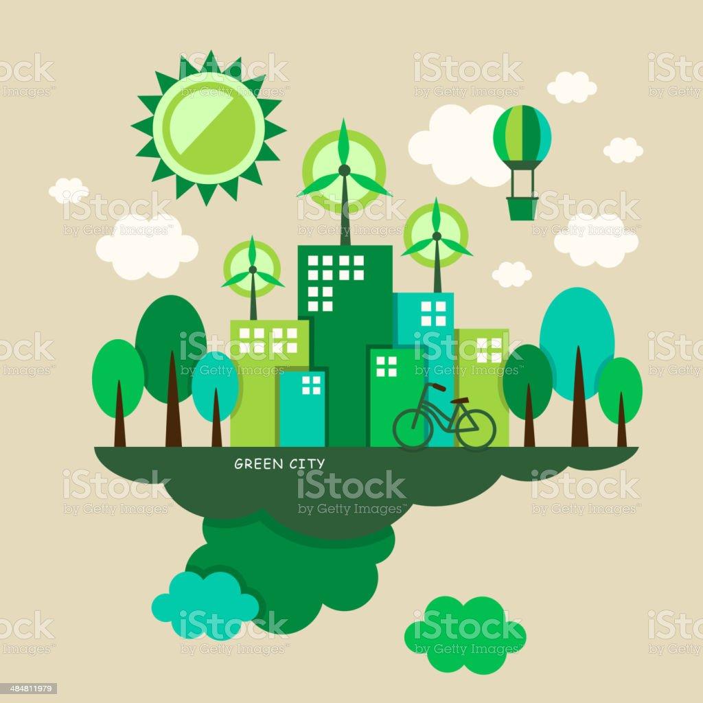 illustration concept of ecology vector art illustration