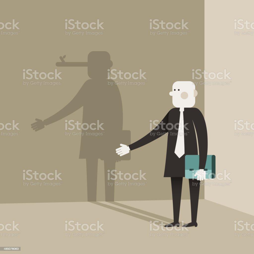 illustration concept of liar vector art illustration