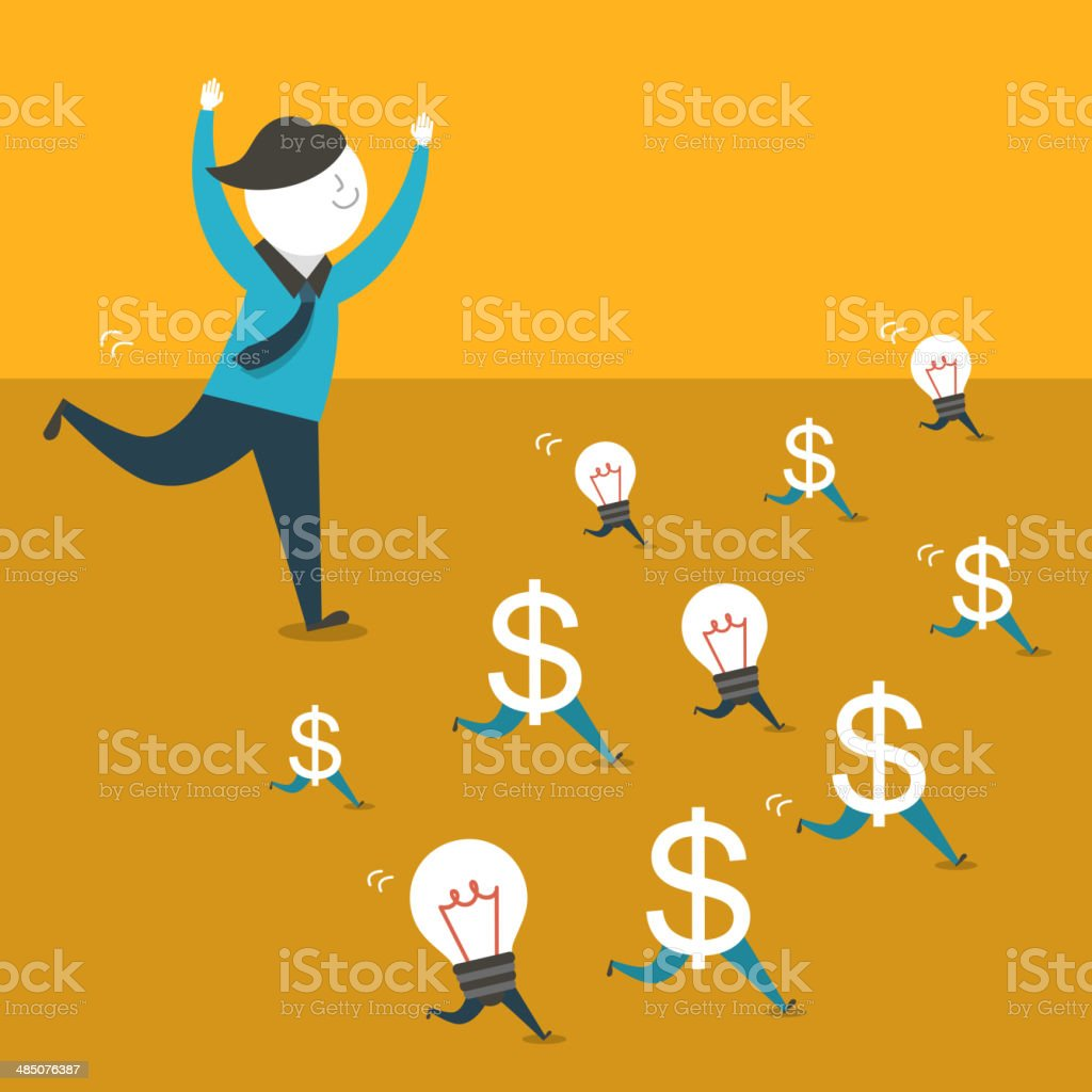 illustration concept of opportunity at hand royalty-free stock vector art