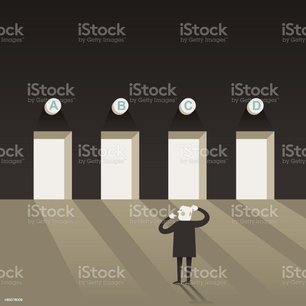 illustration concept of selection vector art illustration
