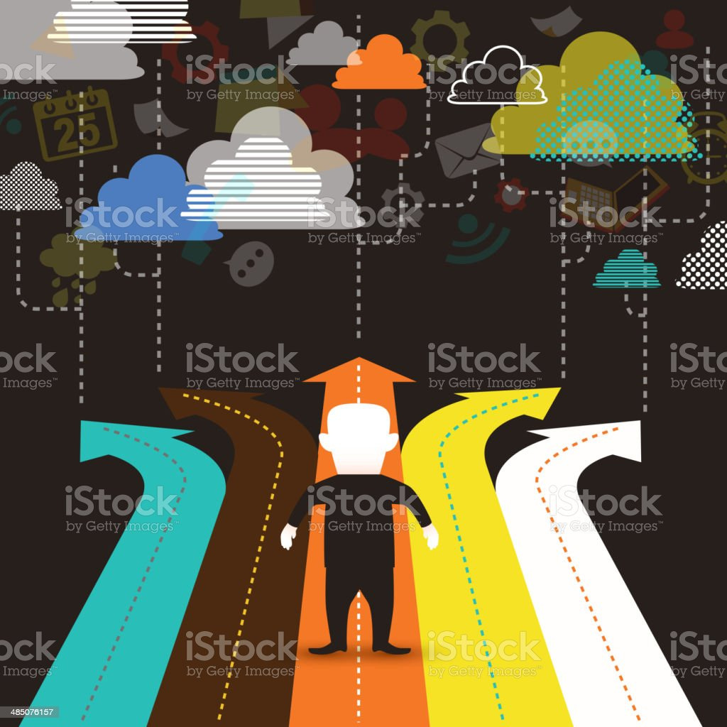 illustration concept of selection vector art illustration