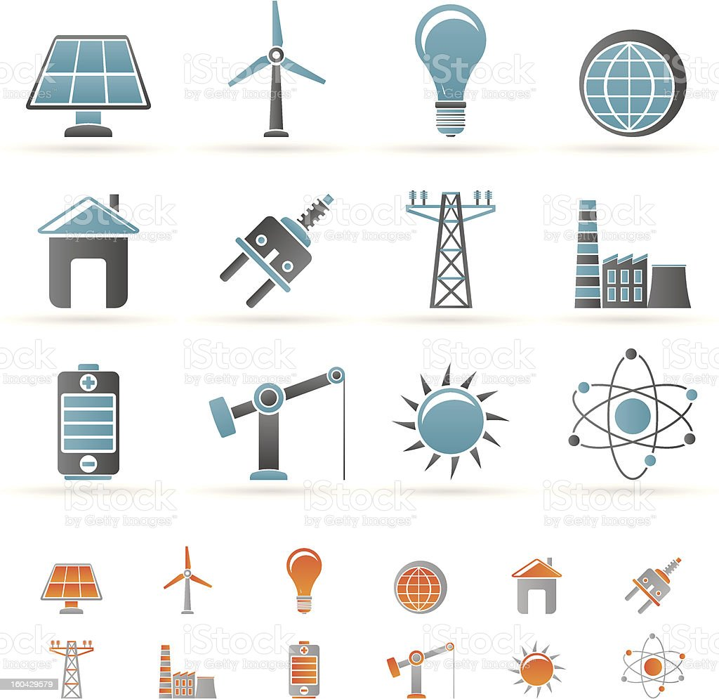 Illustration depicting power, energy, and electricity royalty-free stock vector art