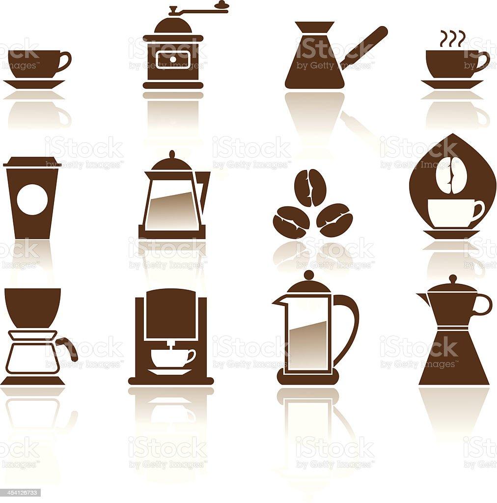 Illustration - Elegant Coffee Icons Set. vector art illustration