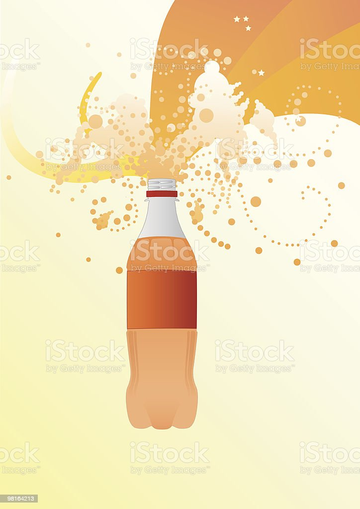 illustration Fizzy Bottle royalty-free stock vector art