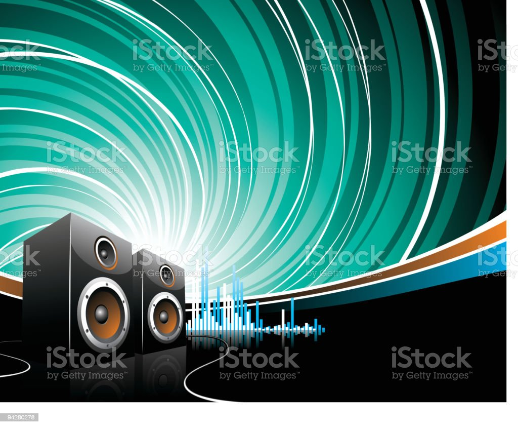 Illustration for a musical theme. royalty-free stock vector art