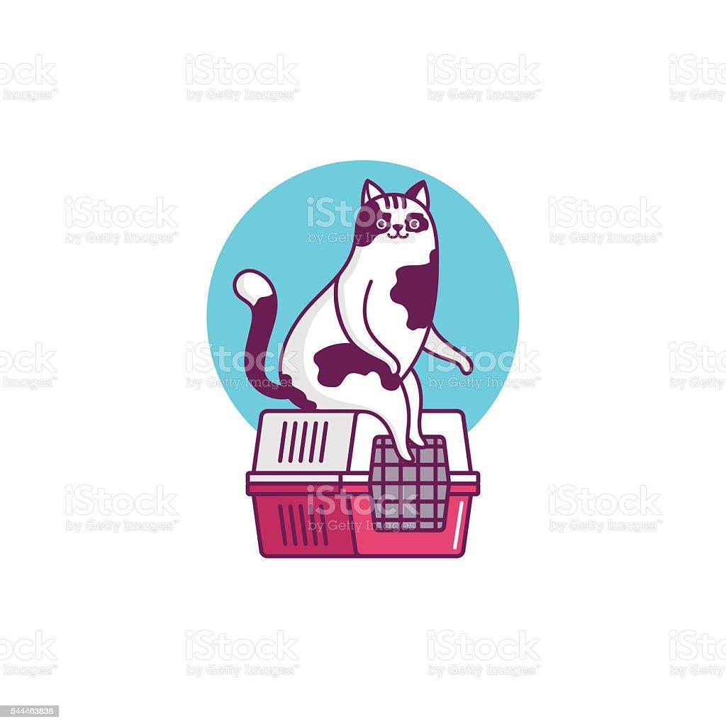 Illustration Funny cat vector art illustration