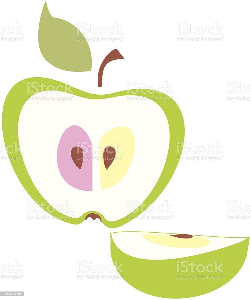 Illustration, green apple . royalty-free stock vector art