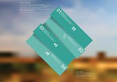 Illustration infographic template with green rectangle