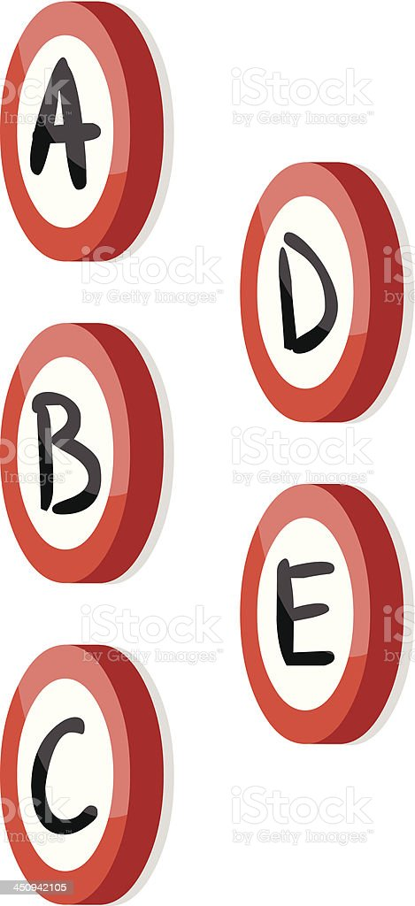 Illustration Isometric Signs with Hand Drawn Letters royalty-free stock vector art