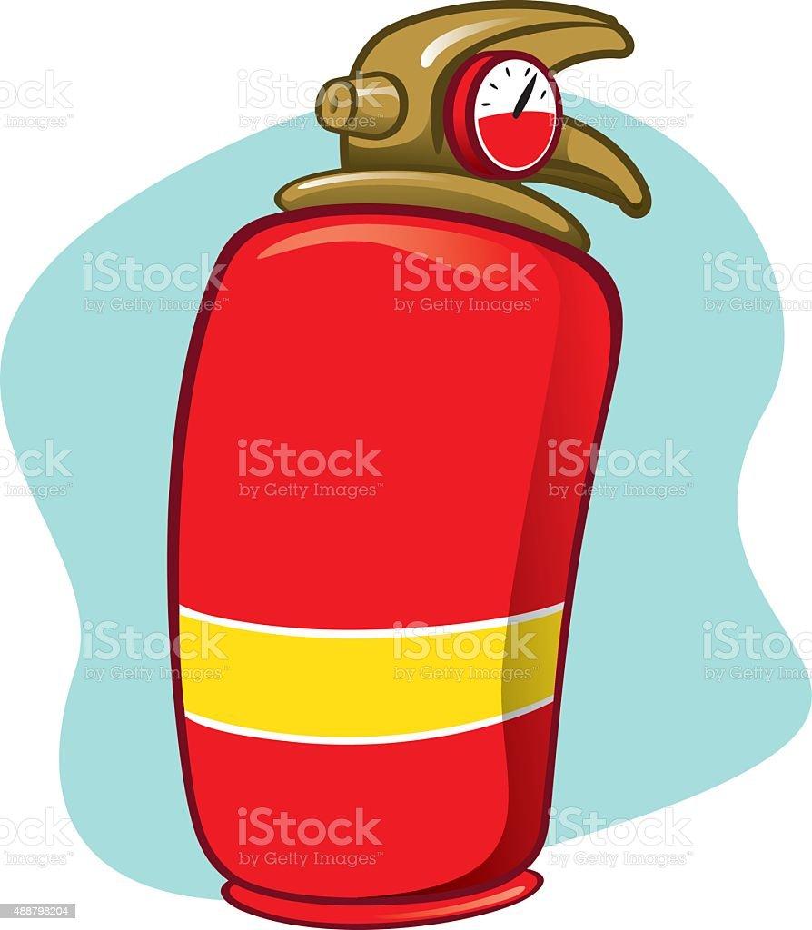 Illustration item is safety fire extinguisher vector art illustration
