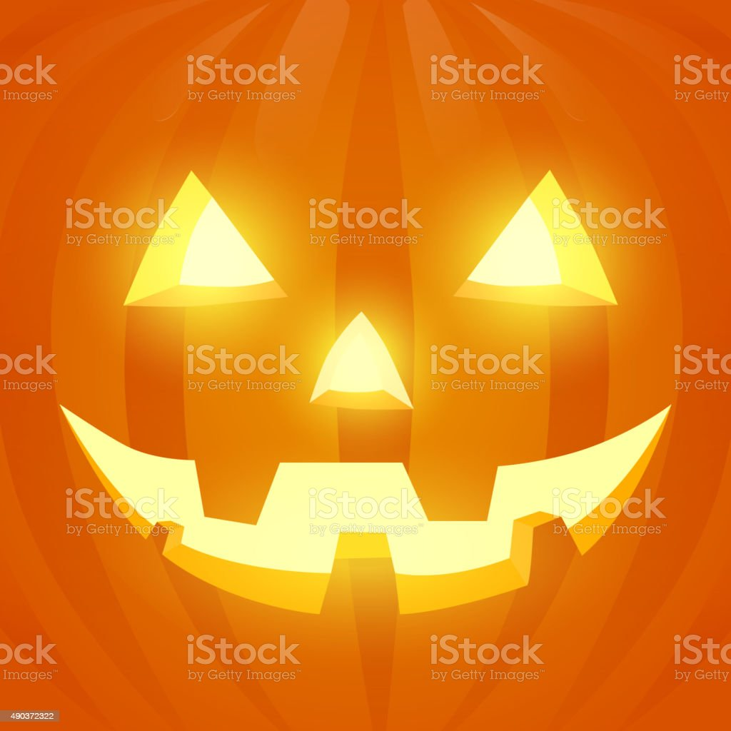 Illustration jack-o'-lantern vector art illustration