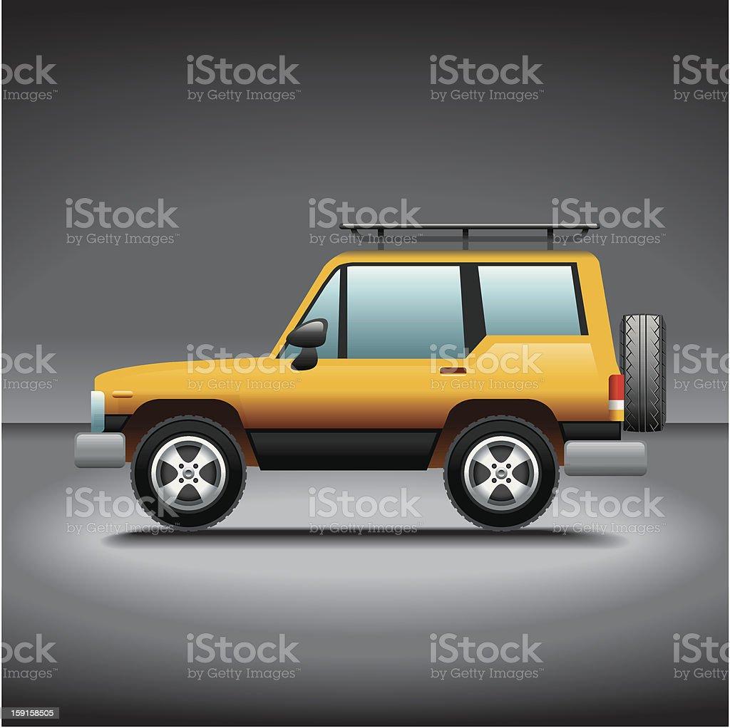 Illustration, Jeep vector art illustration