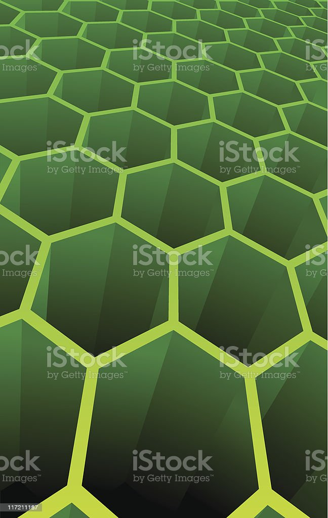 Illustration of 3d abstract cells royalty-free stock vector art